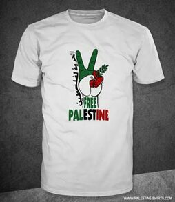 Peace symbol & dove of Palestine
