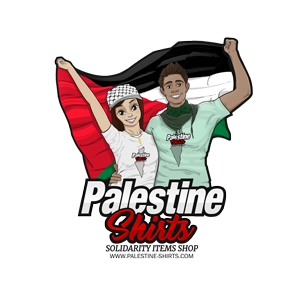 Palestine Shirts, necklaces, and solidarity products.